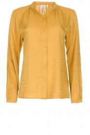 Knit-ted |  Sheen blouse Lana | gold  | Picture 1
