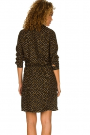 Knit-ted |  Dotted dress Copa | black  | Picture 5