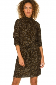 Knit-ted |  Dotted dress Copa | black  | Picture 6