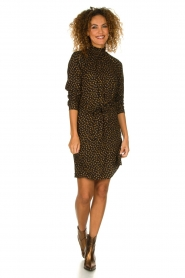 Knit-ted |  Dotted dress Copa | black  | Picture 3
