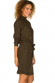 Knit-ted |  Dotted dress Copa | black  | Picture 4