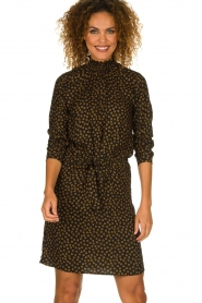 Knit-ted |  Dotted dress Copa | black  | Picture 2