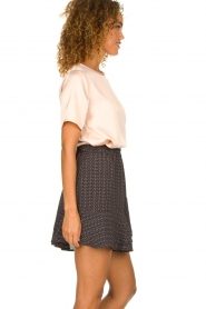 Knit-ted |  Skirt with dots print Charly | blue  | Picture 4