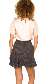 Knit-ted |  Skirt with dots print Charly | blue  | Picture 5