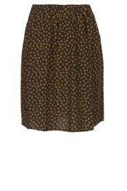 Knit-ted |  Printed skirt Carlijn | black  | Picture 1
