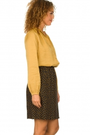 Knit-ted |  Printed skirt Carlijn | black  | Picture 4