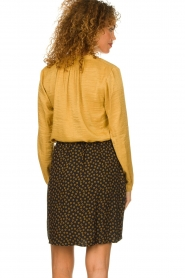 Knit-ted |  Printed skirt Carlijn | black  | Picture 5