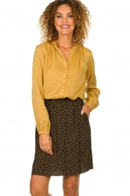 Knit-ted |  Printed skirt Carlijn | black  | Picture 2