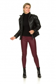 Knit-ted | Faux leather leggings Amber | red  | Picture 3