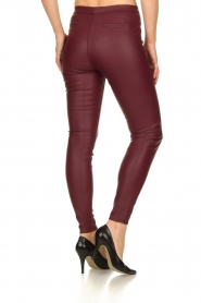 Knit-ted | Faux leather leggings Amber | red  | Picture 5