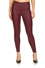 Knit-ted | Faux leather leggings Amber | red  | Picture 2