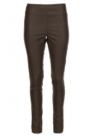 Knit-ted | Faux leather leggins Amber | brown  | Picture 1