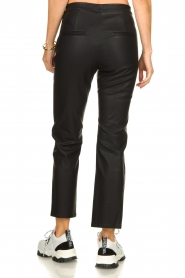 Knit-ted |   Pants with leather look Alix | black  | Picture 5