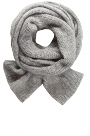 Knit-ted | Knitted scarf Bente | grey  | Picture 1