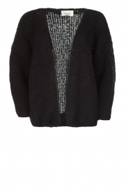 American Vintage |  Heavy knitted cardigan Boolder | black  | Picture 1