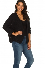 American Vintage |  Heavy knitted cardigan Boolder | black  | Picture 5