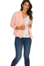 American Vintage |  Heavy knitted cardigan Boolder | pink  | Picture 4