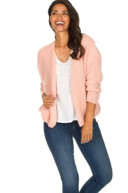 American Vintage |  Heavy knitted cardigan Boolder | pink  | Picture 2