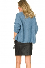 American Vintage |  Heavy knitted cardigan Boolder | blue  | Picture 5