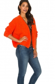 American Vintage |  Heavy knitted cardigan Boolder | orange  | Picture 5
