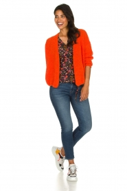 American Vintage |  Heavy knitted cardigan Boolder | orange  | Picture 3