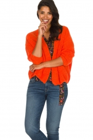 American Vintage |  Heavy knitted cardigan Boolder | orange  | Picture 2