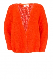 American Vintage |  Heavy knitted cardigan Boolder | orange