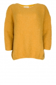 American Vintage |  Heavy knitted sweater Boolder | ochre yellow  | Picture 1