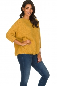 American Vintage |  Heavy knitted sweater Boolder | ochre yellow  | Picture 6