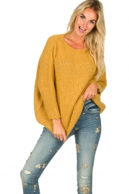 American Vintage |  Heavy knitted sweater Boolder | ochre yellow  | Picture 2