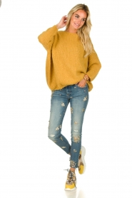 American Vintage |  Heavy knitted sweater Boolder | ochre yellow  | Picture 3