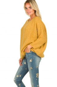 American Vintage |  Heavy knitted sweater Boolder | ochre yellow  | Picture 4