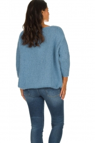 American Vintage |  Heavy knitted sweater Boolder | blue  | Picture 5
