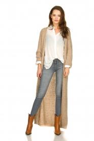 American Vintage |  Maxi cardigan Manina | beige  | Picture 3