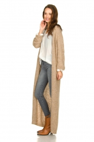 American Vintage |  Maxi cardigan Manina | beige  | Picture 4