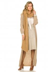 American Vintage |  Maxi cardigan Manina | beige  | Picture 2