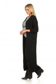 American Vintage |  Maxi cardigan Manina | black  | Picture 3