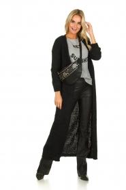 American Vintage |  Maxi cardigan Manina | black  | Picture 2