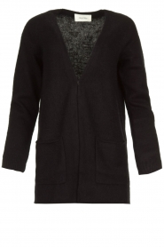 American Vintage |  Cardigan with open pockets Gogojet | black  | Picture 1