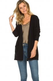 American Vintage |  Cardigan with open pockets Gogojet | black  | Picture 3