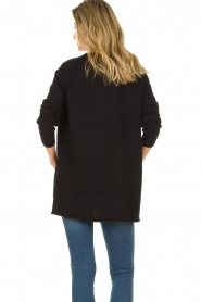 American Vintage |  Cardigan with open pockets Gogojet | black  | Picture 6