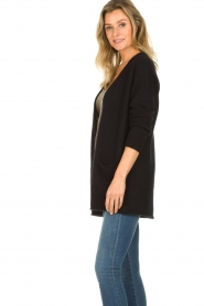 American Vintage |  Cardigan with open pockets Gogojet | black  | Picture 5