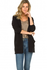 American Vintage |  Cardigan with open pockets Gogojet | black  | Picture 4