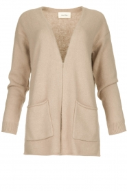 American Vintage |  Cardigan with open pockets Gogojet | beige  | Picture 1