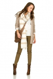 American Vintage |  Cardigan with open pockets Gogojet | beige  | Picture 3
