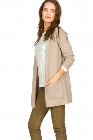 American Vintage |  Cardigan with open pockets Gogojet | beige  | Picture 4