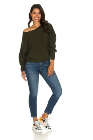 American Vintage |  Basic sweater Damsville | green  | Picture 3
