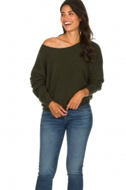 American Vintage |  Basic sweater Damsville | green  | Picture 4