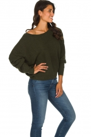 American Vintage |  Basic sweater Damsville | green  | Picture 5