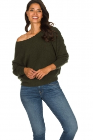 American Vintage |  Basic sweater Damsville | green  | Picture 2